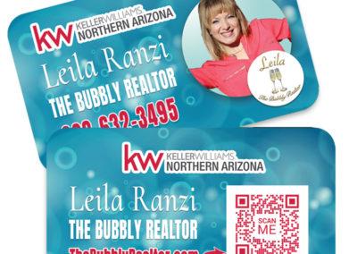 Leila Ranzi-The Bubbly Realtor-business card